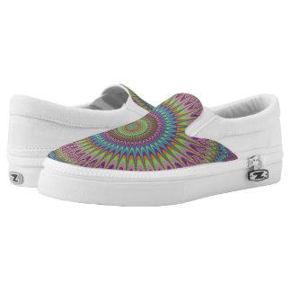 Psychedelic mandala Slip-On shoes