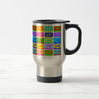 Psychedelic Mix Tape 15 Oz Stainless Steel Travel Mug