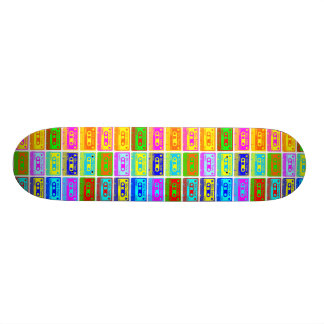 Psychedelic Mix Tape Pop Skate Boards