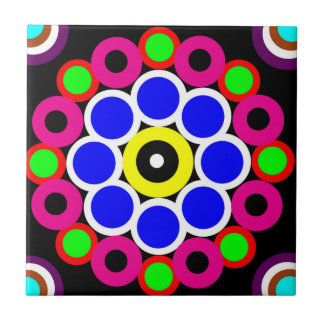 Psychedelic Modern Persian Rug Pattern Ceramic Tile