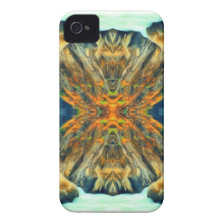 Psychedelic Mountain Range Painting Pattern iPhone 4 Covers