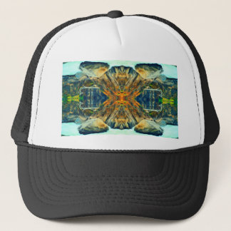 Psychedelic Mountain Range Painting Pattern Trucker Hat