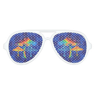 Psychedelic Mushrooms Aviator Sunglasses