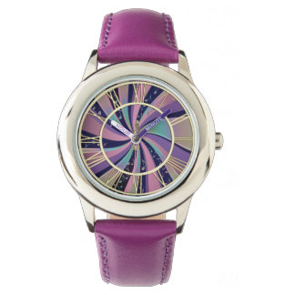 Psychedelic Music Notes Swirl Watch