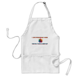 psychedelic music standard apron