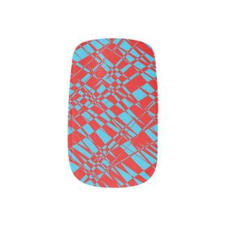 Psychedelic nails minx nail art