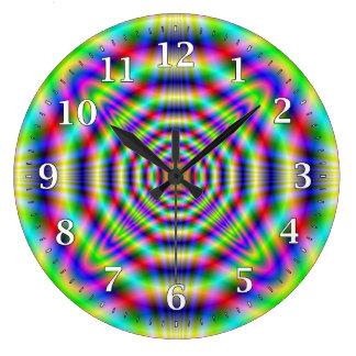Psychedelic Neon Decorative Wall Clock