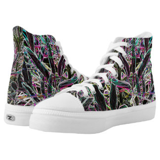 Psychedelic Neon High Tops
