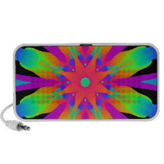Psychedelic Neon Kaleidoscope Flower Speakers