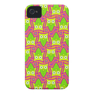 Psychedelic Neon Owl Pattern Case-Mate iPhone 4 Case