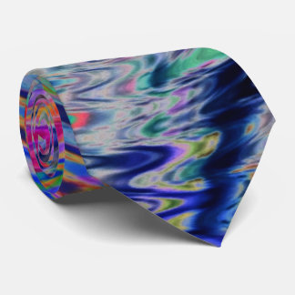Psychedelic Neon Rainbow Neck Tie matches it all!