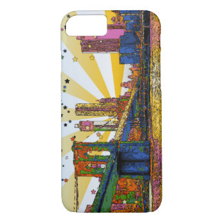 Psychedelic New York City: Brooklyn Bridge, WTC #1 iPhone 8/7 Case