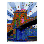 Psychedelic NYC: Brooklyn Bridge #2 Post Cards