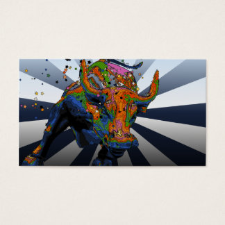 Psychedelic NYC: Charging Bull of Wall Street