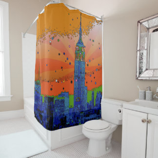 Psychedelic NYC: Empire State Building #3 Shower Curtain