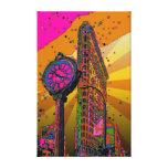 Psychedelic NYC: Flatiron Building & Clock #2B Canvas Prints