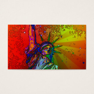Psychedelic NYC Rainbow Color Statue of Liberty 1R