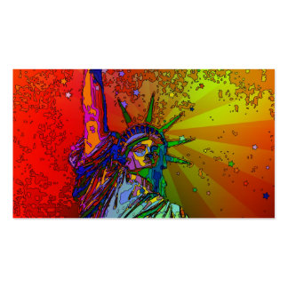Psychedelic NYC Rainbow Color Statue of Liberty 1R Pack Of Standard Business Cards