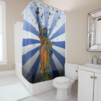 Psychedelic NYC: Statue of Liberty #2 Shower Curtain