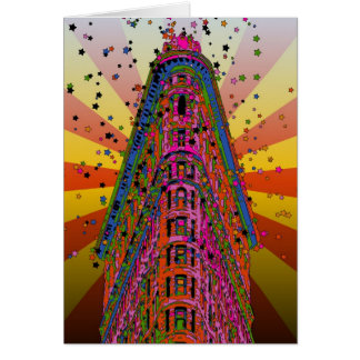 Psychedelic NYC - Top of the Flatiron Building A2 Card