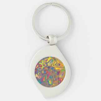Psychedelic Oils Key Ring