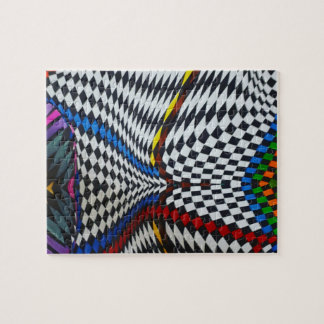 Psychedelic Optical Illusion Jigsaw Puzzle