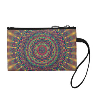 Psychedelic oval  mandala coin purse