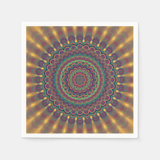 Psychedelic oval  mandala disposable serviettes