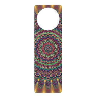 Psychedelic oval  mandala door hanger