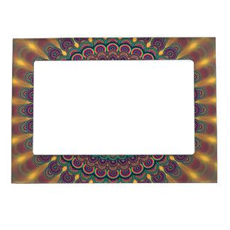 Psychedelic oval  mandala magnetic frame