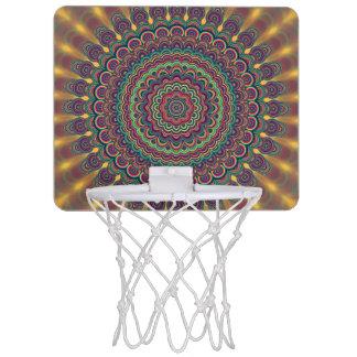 Psychedelic oval  mandala mini basketball hoop