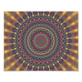 Psychedelic oval  mandala photo print