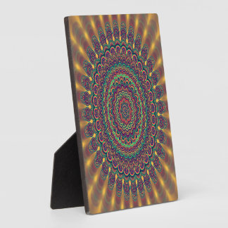 Psychedelic oval  mandala plaque