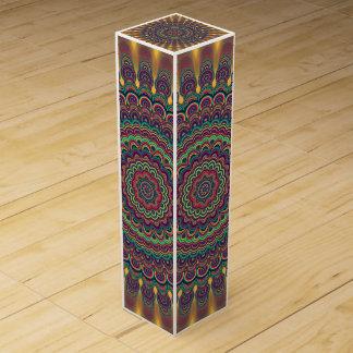 Psychedelic oval  mandala wine gift box