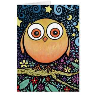 Psychedelic Owl Greeting Card