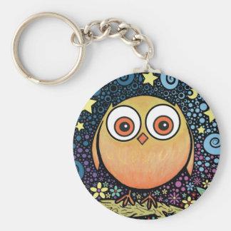 Psychedelic Owl Keyring