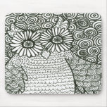 Psychedelic Owl Mouse Pad