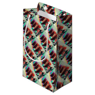 Psychedelic Pagoda Gift Wrapping Series Small Gift Bag