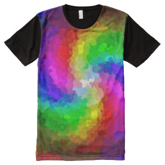 Psychedelic Paint Tornado All-Over Print T-Shirt