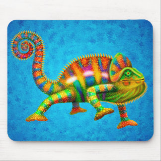 Psychedelic Panther Chameleon Mousepad