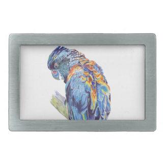 Psychedelic Parrot Australian Cockatoo Belt Buckles