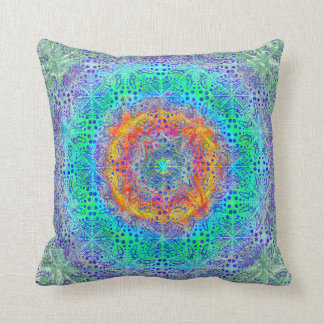 Psychedelic Pattern Throw Pillow Throw Cushion
