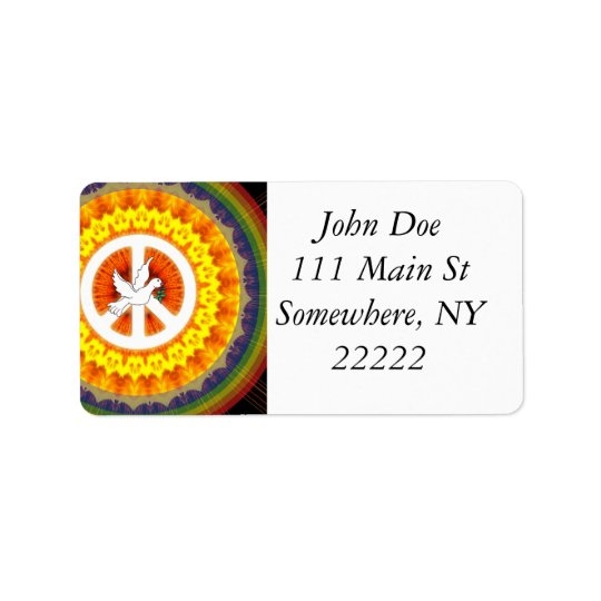 Psychedelic Peace Dove Label