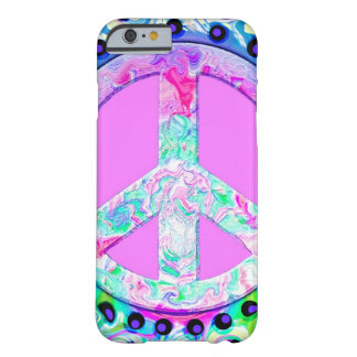Psychedelic Peace Sign Abstract Barely There iPhone 6 Case
