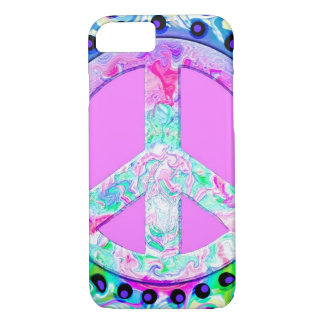 Psychedelic Peace Sign Abstract iPhone 7 Case