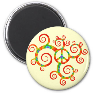 Psychedelic peace symbol. magnet