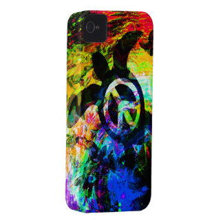 Psychedelic Peace Turtle iPhone Case