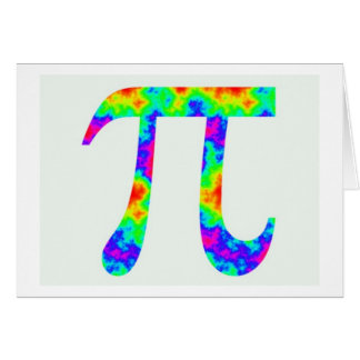 Psychedelic Pi Sign Greeting Card