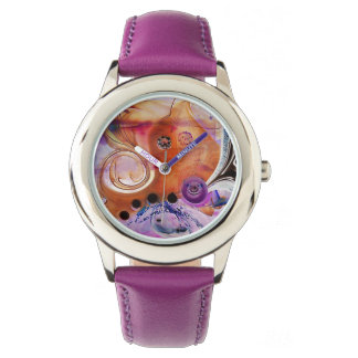 psychedelic, pink, purple, crazy, photography wristwatches
