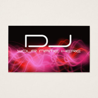 Psychedelic Pink Wave DJ Business Cards